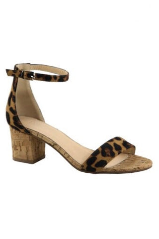 Ashton Leopard Block Heel Sandals