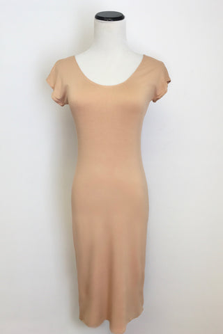 Nude Layering Slip Dress