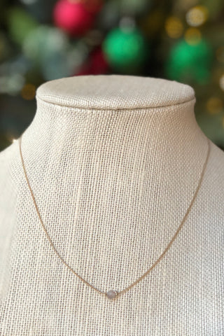 Petite Grey Bead Necklace
