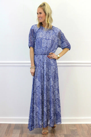 Makenzie Blue Maxi Dress