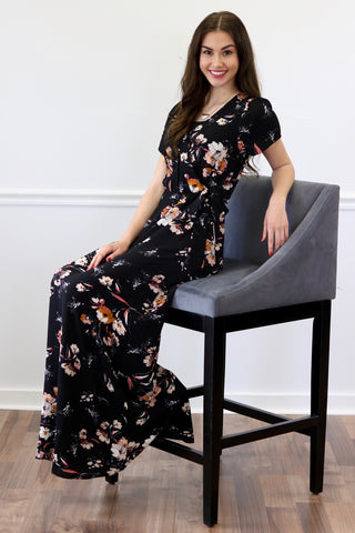 Renee Black Floral Maxi Dress