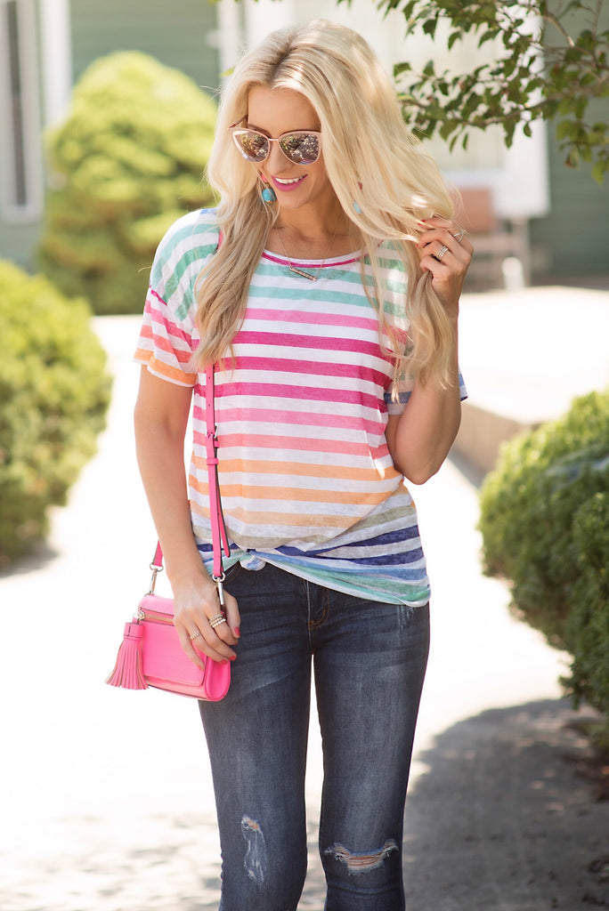 Alyssa Multicolor Striped Top