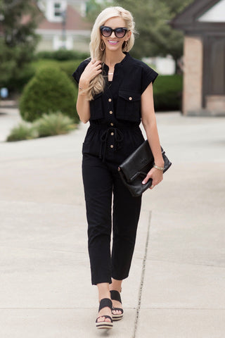Natalie Black Jumpsuit