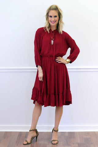 Celine Red Midi Dress