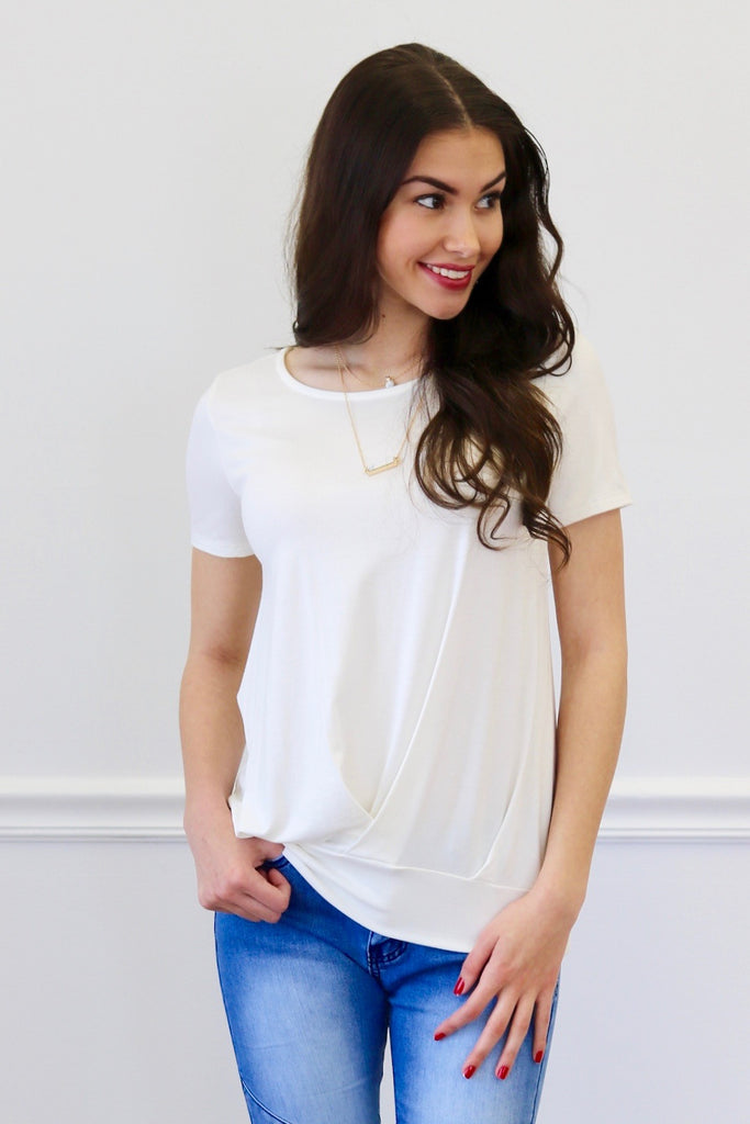 Daisy Ivory Short Sleeve Top