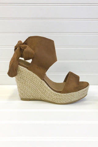 Parker Camel Wedge Sandals
