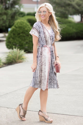 Sydney Multi Striped Midi Dress