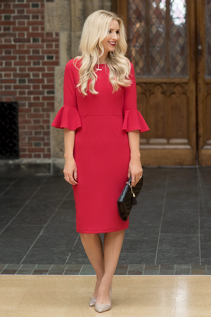 London Red Midi Dress
