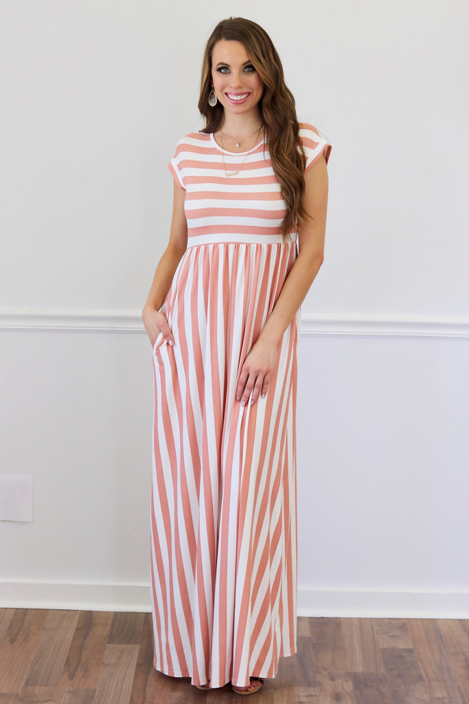 Britney Rose Stripe Maxi Dress