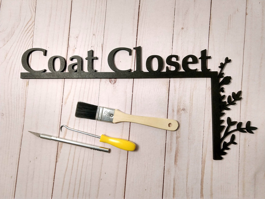 "Coat Closet ""Over the Door"" Door Topper Sign"