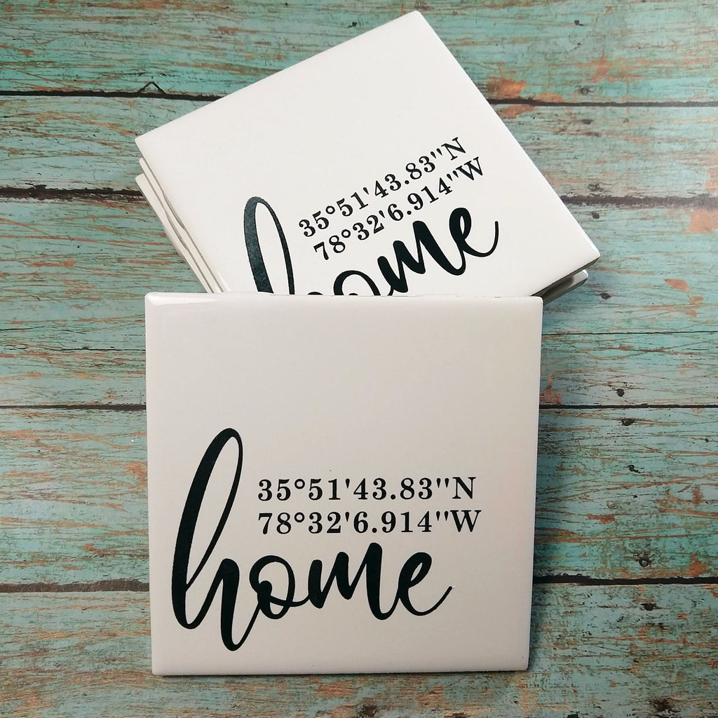 Home Coordinates Ceramic Coaster Set