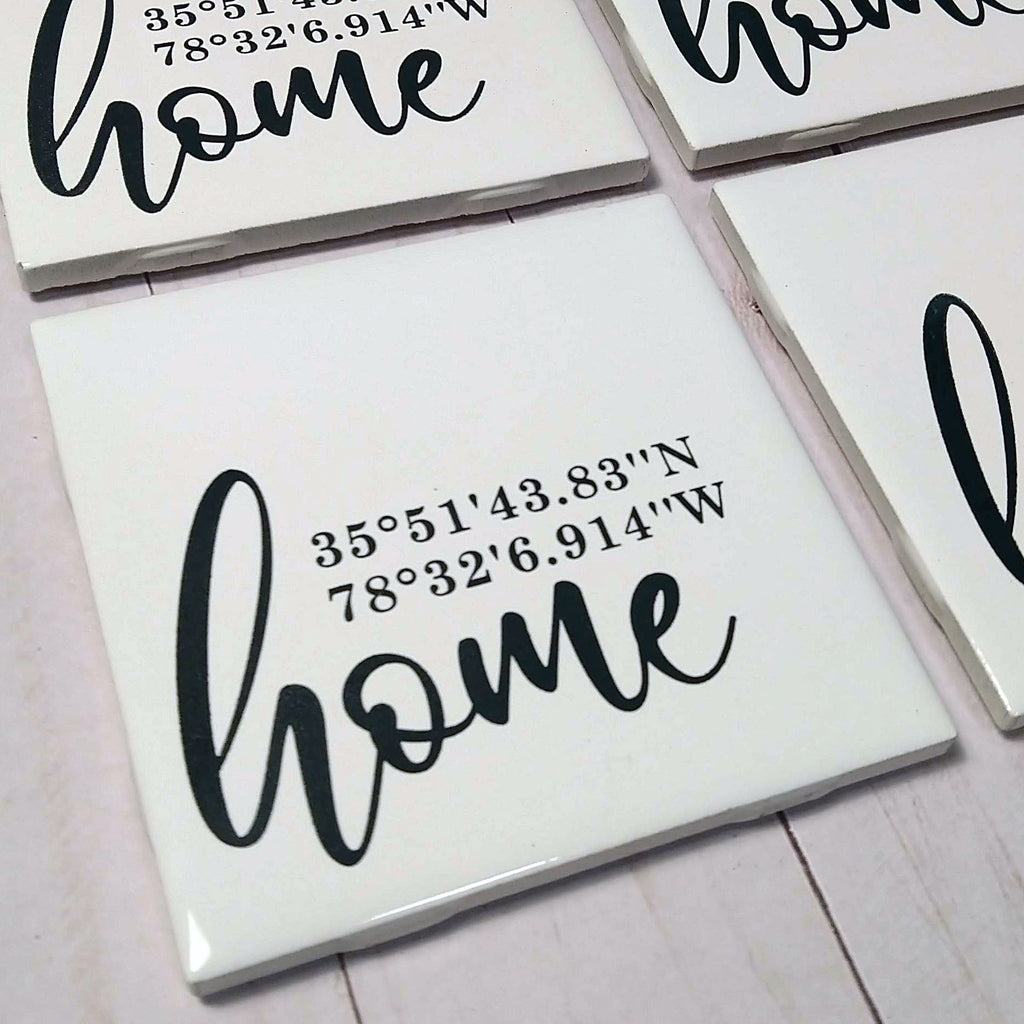 Home Coordinates Cutting Board and Coasters Set