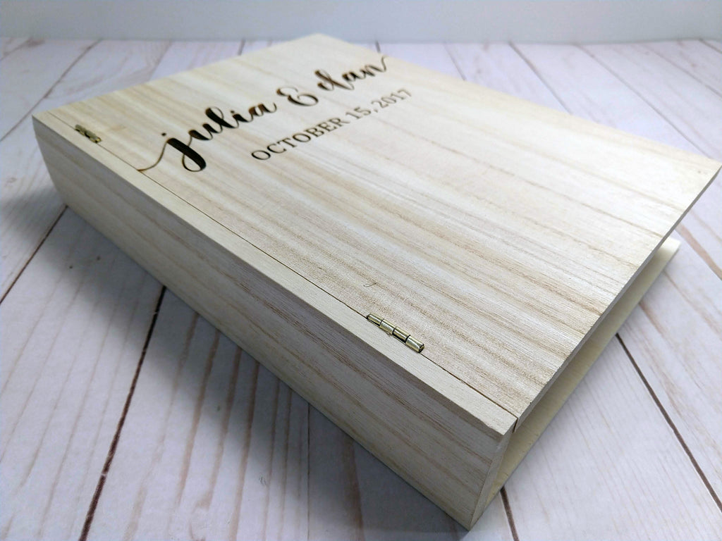 Engraved Wedding Book Box