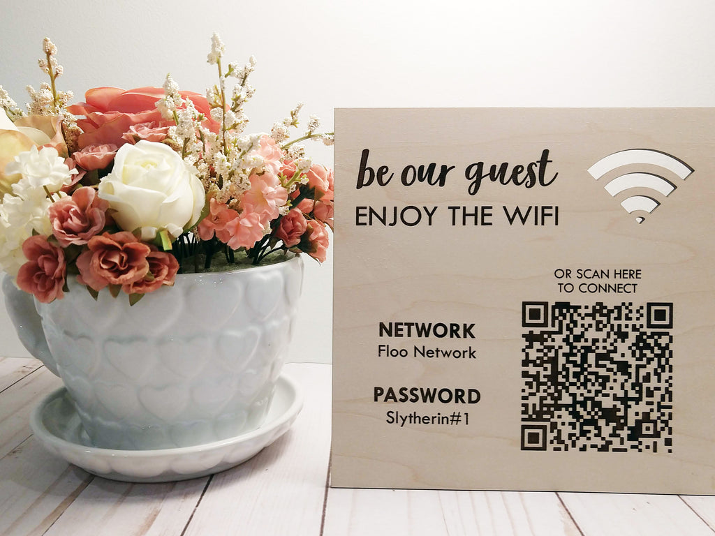 Wifi Password QR Code Sign 8""