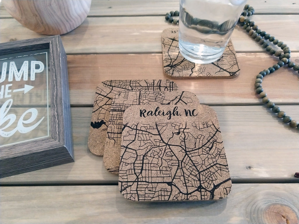 Raleigh Cork Coaster Set