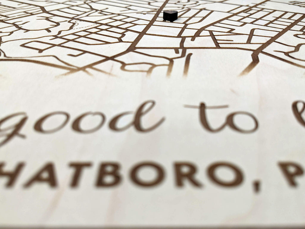 Standing Wood Map of Your Address