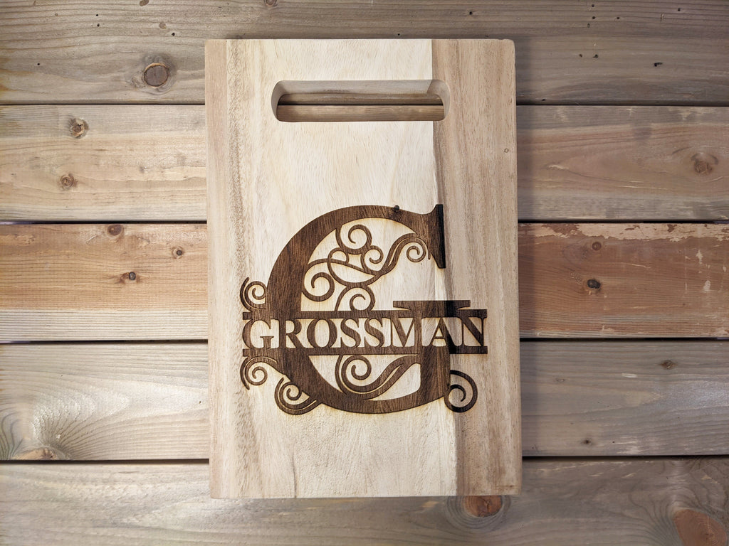 Personalized Solid Acacia Cutting Board