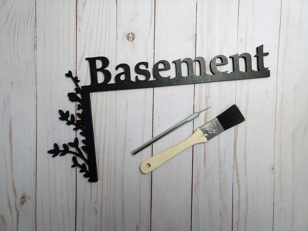 "Basement ""Over the Door"" Door Topper Sign"