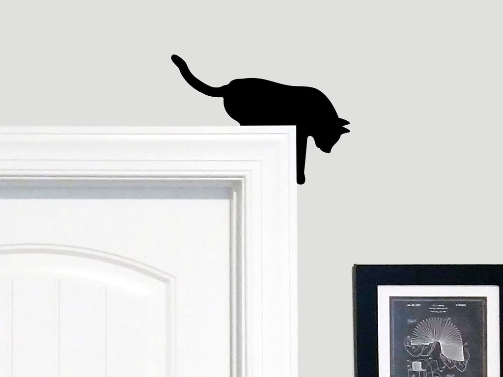 "Cat Silhouette ""Over the Door"" Door Topper"