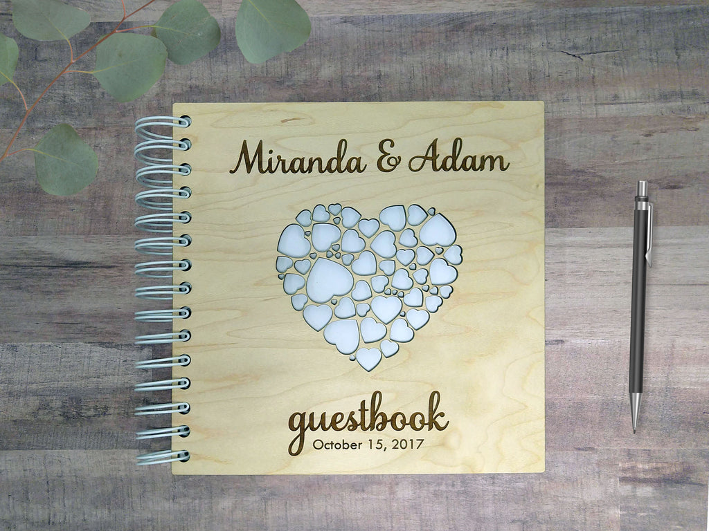 Wood-Cover Wedding Guestbook