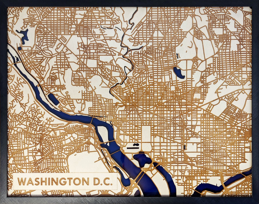 Washington DC 3D Wooden Map