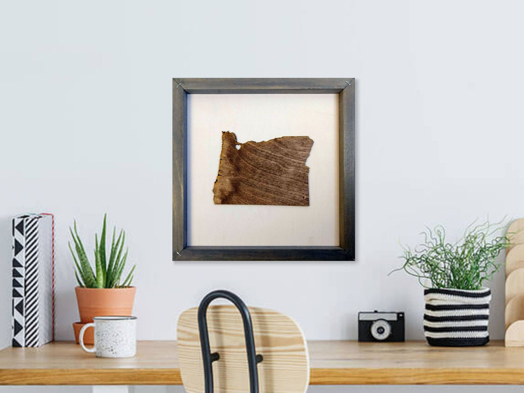 Rustic Wood Oregon Wall Art