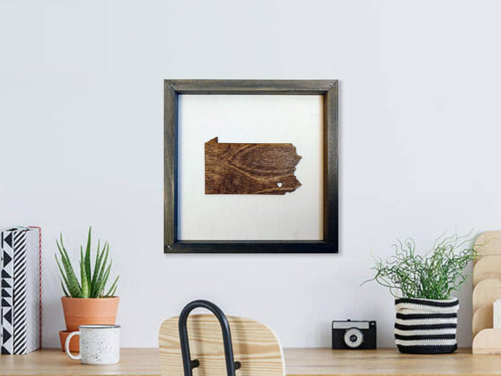 Rustic Wood Pennsylvania Wall Art