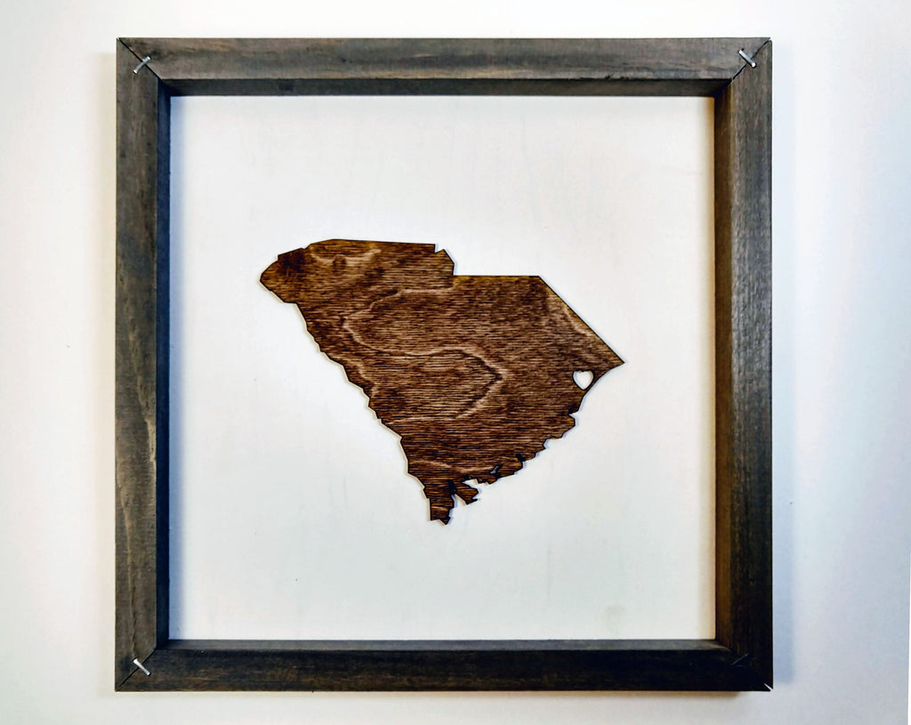 Rustic Wood South Carolina Wall Art