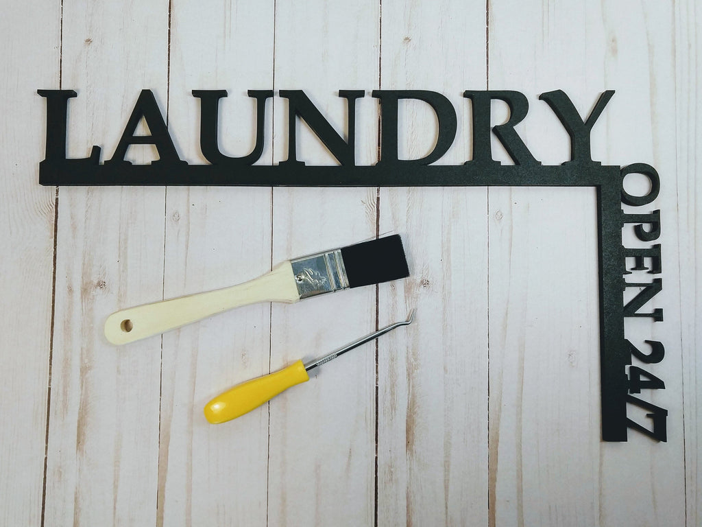 "Laundry Open 24/7 ""Over the Door"" Door Topper Sign"