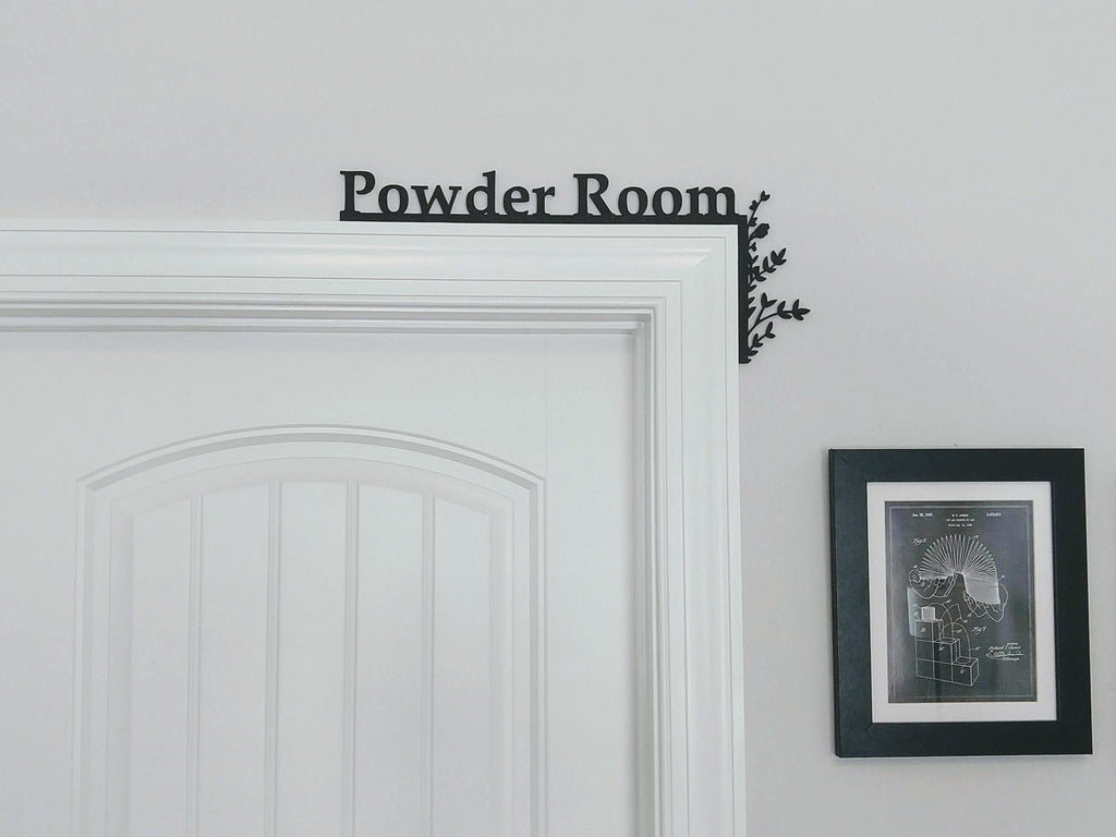 "Powder Room ""Over the Door"" Door Topper Sign"