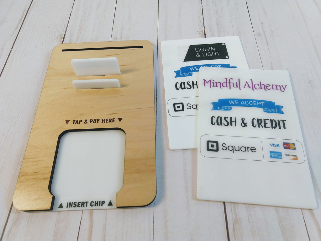 Square Reader Holder Dock, Business Card Holder and Sign Stand