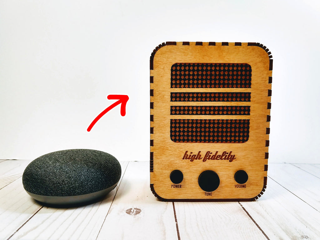 Vintage Radio Case for Google Home Mini