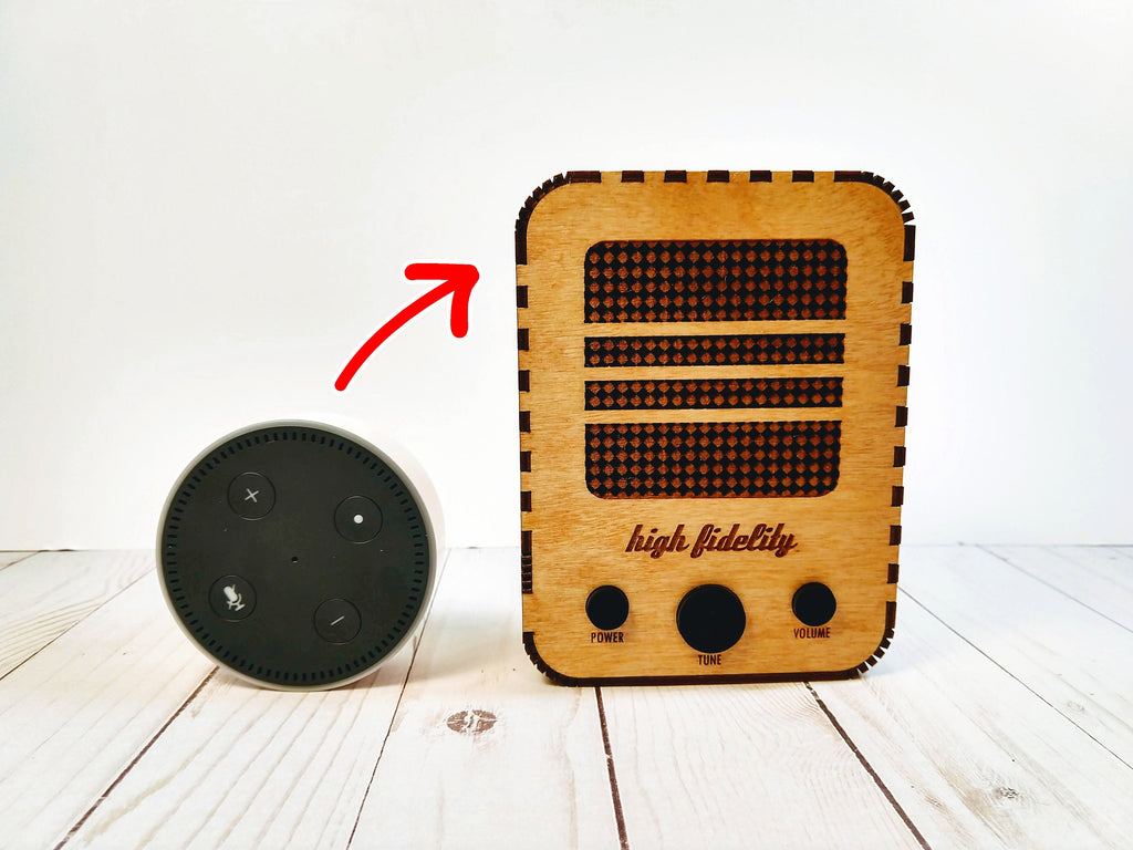 Vintage Radio Case for Echo Dot (1st, 2nd, 3rd Gen)