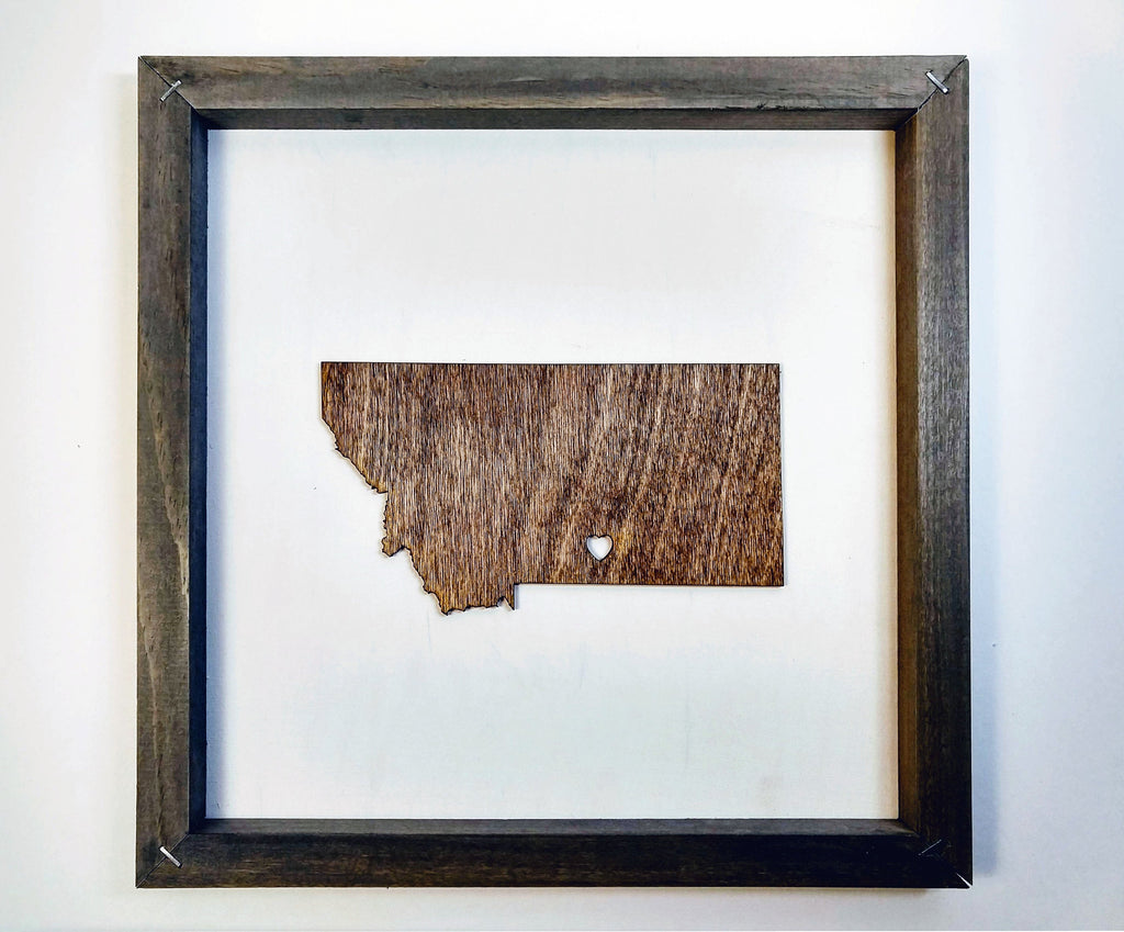 Rustic Wood Montana Wall Art