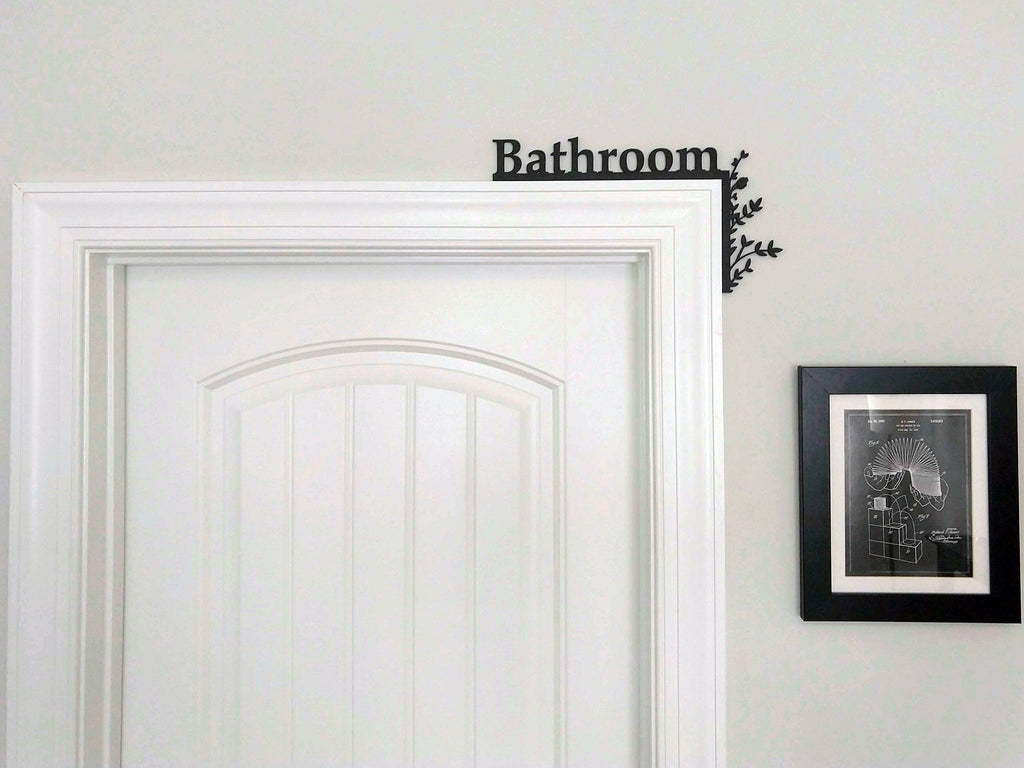 "Bathroom ""Over the Door"" Door Topper Sign"