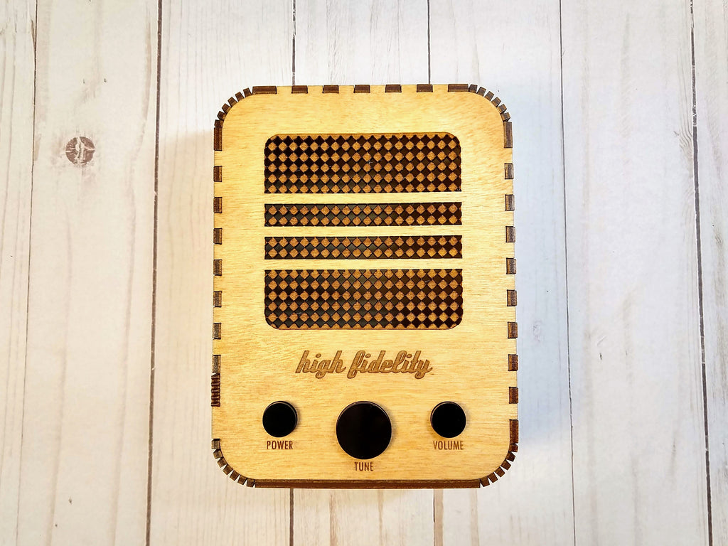 Vintage Radio Case for Echo Dot
