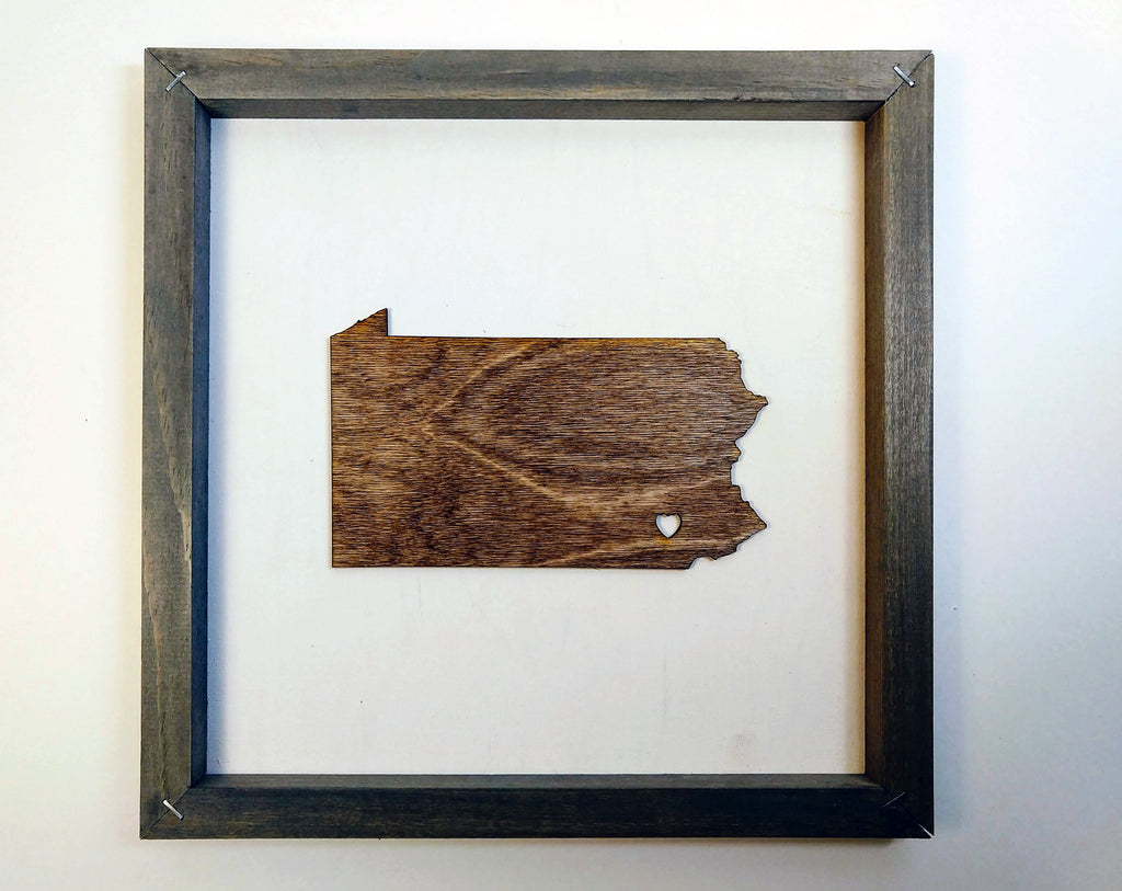 Any State Rustic Wood Wall Art
