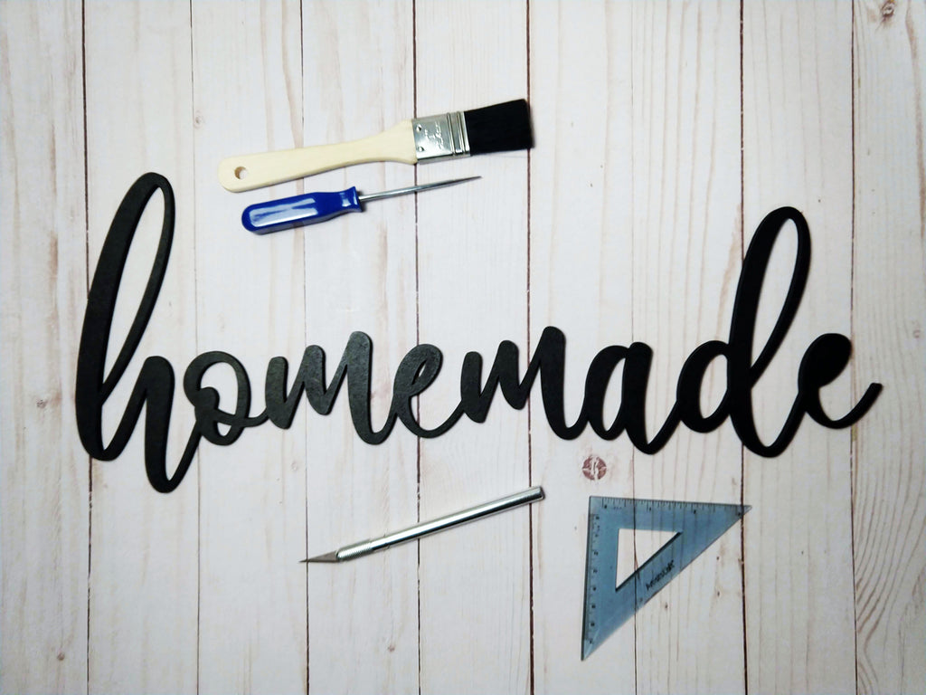 "Wooden ""Homemade"" Kitchen Sign"