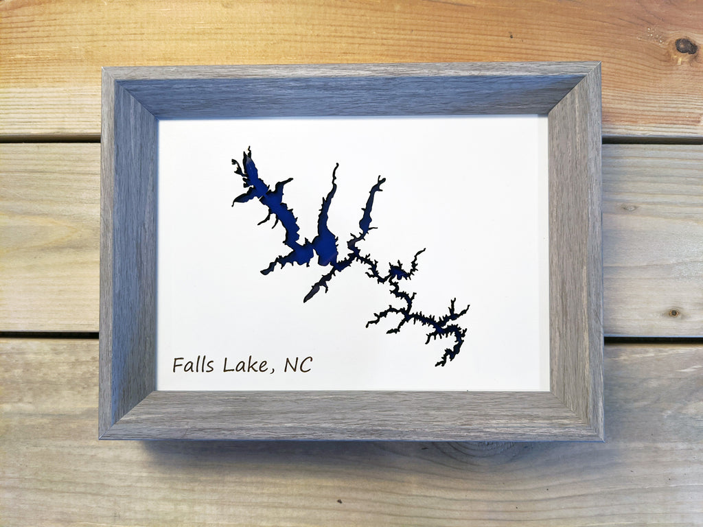 Falls Lake North Carolina 3D Tabletop Map