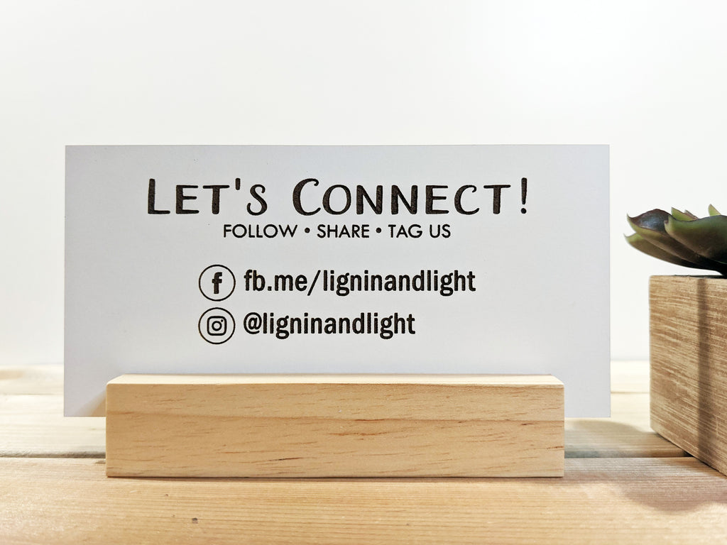Wood Mini Social Media Sign