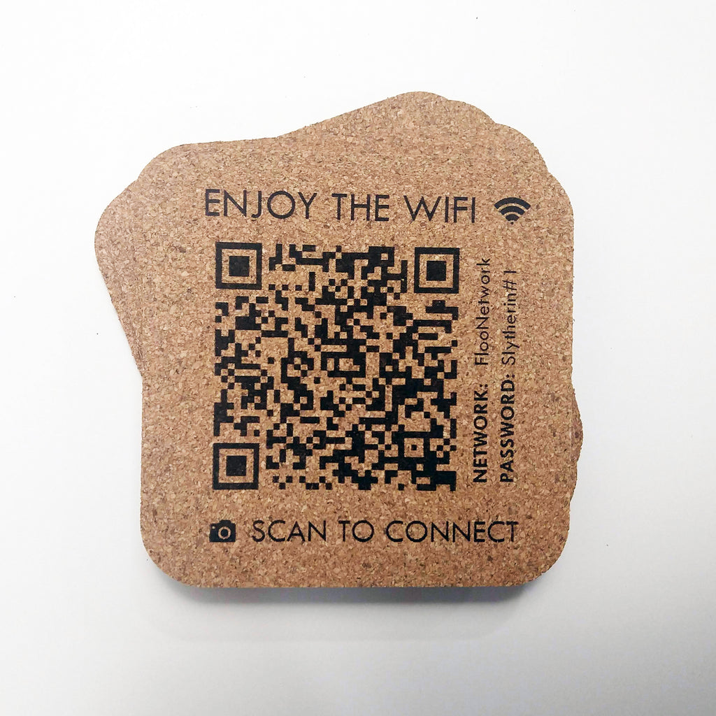 Wifi Cork Coaster Set
