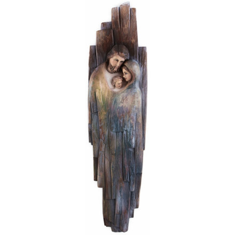 Holy Family - Heart and Home (model 1) - Sacred sculpture - RzezbawDrewnie.pl - Viktor-Art