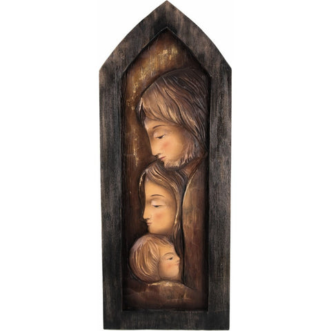 Holy Family - Heart and Home - Window (Model 3) - Sacred Sculpture - RzezbawDrewnie.pl - Viktor-Art