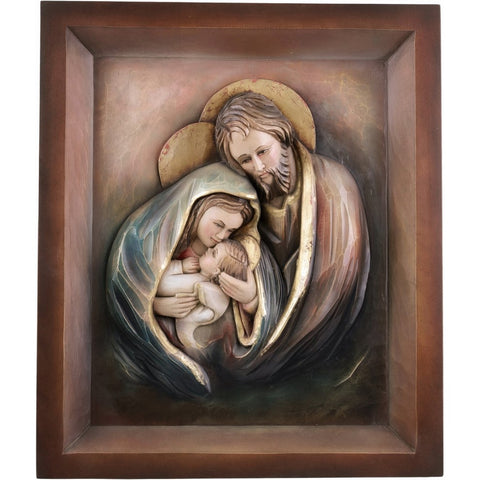 Holy Family - Heart and Home - Frame (model 10) - Sacred sculpture - RzezbawDrewnie.pl - Viktor-Art