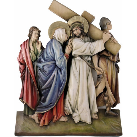 Way of the Cross (series of 14 stations) - Polychrome-Sacred Sculpture-RzezbawDrewnie.pl-Viktor-Art