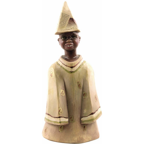 Wooden child / boy figurine (model 3 of 3) - Decorative sculpture - RzezbawDrewnie.pl - Viktor-Art