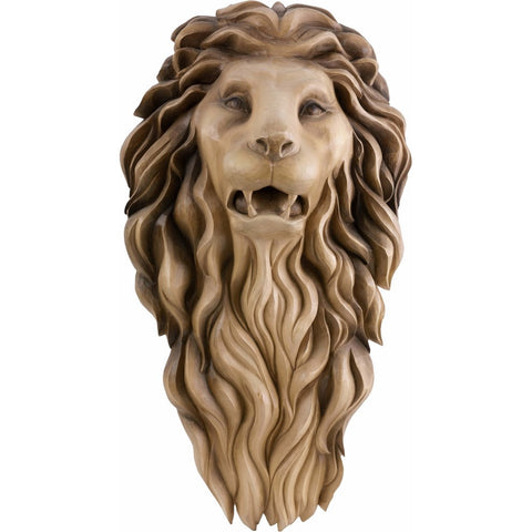 Lion Head - Guard - bas-relief-Decorative sculpture-RzezbawDrewnie.pl-Viktor-Art