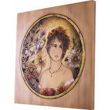 Engraved picture made of wood - Portrait of a Woman (model 4) - Decorative sculpture - RzezbawDrewnie.pl - Viktor-Art