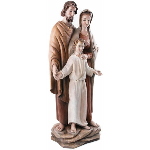Holy Family - Heart and Home - (model 15) - Sacred sculpture-RzezbawDrewnie.pl-Viktor-Art