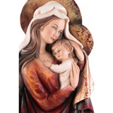 Saint Mary and Baby Jesus - Symbol of Mother's Love-Sacred Sculpture-RzezbawDrewnie.pl-Viktor-Art